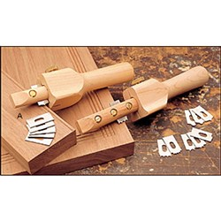 Veritas® Wooden Beading Tool with 6 cutters