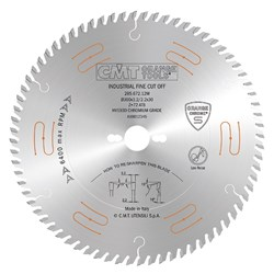 CMT Industrial Low Noise and Chrome Coated Blade - 250mm - 60 Tooth