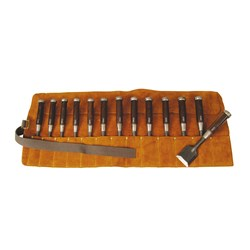 Archer Leather Chisel Roll - 13 Place