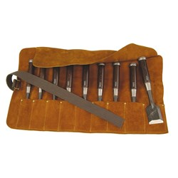 Archer Leather Chisel Roll - 9 Place