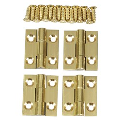 "Solid Brass Butt Hinges 3/4"" x 5/8"""