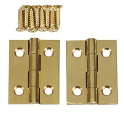 "Solid Brass Butt Hinges - 1"" x 3/4"""