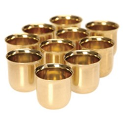 Solid Brass Candle Cups - 10Pack