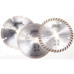 Carbatec 3 Piece Diamond Blade Set