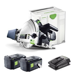 Festool TSC 55 160mm Cordless Plunge Cut Saw + 2 Batteries & Charger