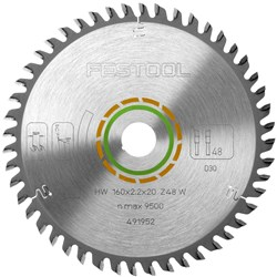 Festool Fine Tooth Saw Blade - 160mm x 48 tooth