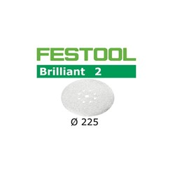 Festool Brilliant Abrasive Disc - 225mm 8 Hole P180