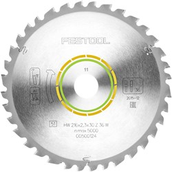 Festool Saw Blade - 216mm 36 Tooth