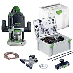 Festool OF 2200W Plunge Router + Accessory set