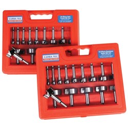 16 Piece Forstner Bit Set - Metric Equivalent