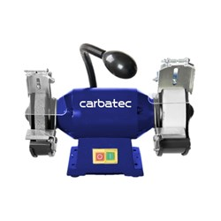 Carbatec Wide Stone Bench Grinder- With LED Light
