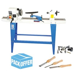 Carbatec Wood Lathe & Accessory Pack Offer (MC-900, TJ-3 ,TK-CENTRE)