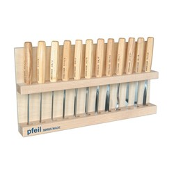 Pfeil Carving Set - 12 Piece incl Basswood Stand & Case