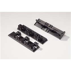 Striplox 90D Right-Angle Connectors - Black - 1 Pair