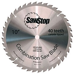 "SawStop Standard 40 Tooth 10"" Replacement Blade"
