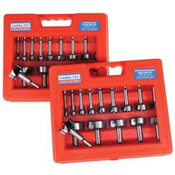 16 Piece Sawtooth & Forstner Combination Bit Set - Metric