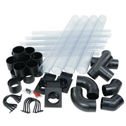 Clear Dust Extraction Ducting Kit