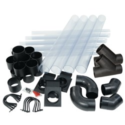 "Carbatec Clear Dust Extraction Ducting Kit with ""Y"" Fittings"