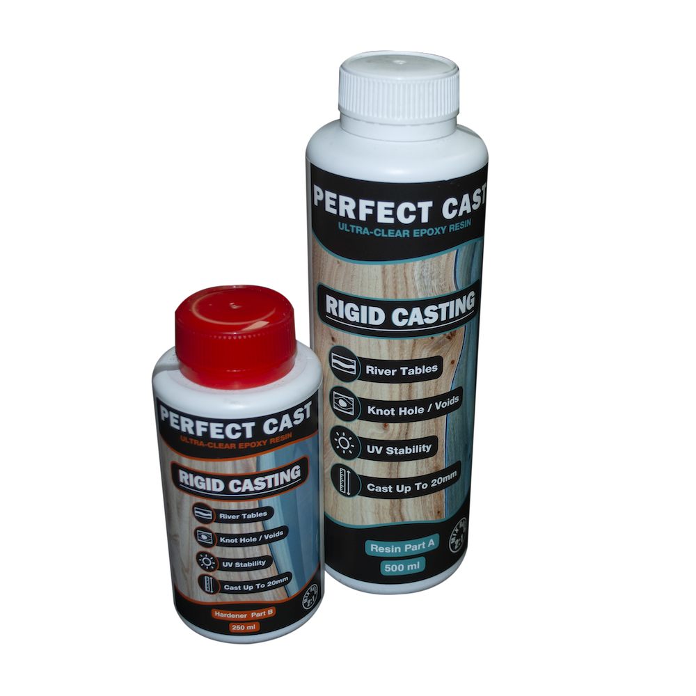 Perfect Cast 2 Part Resin and Hardener - Rigid - 750ml Kit