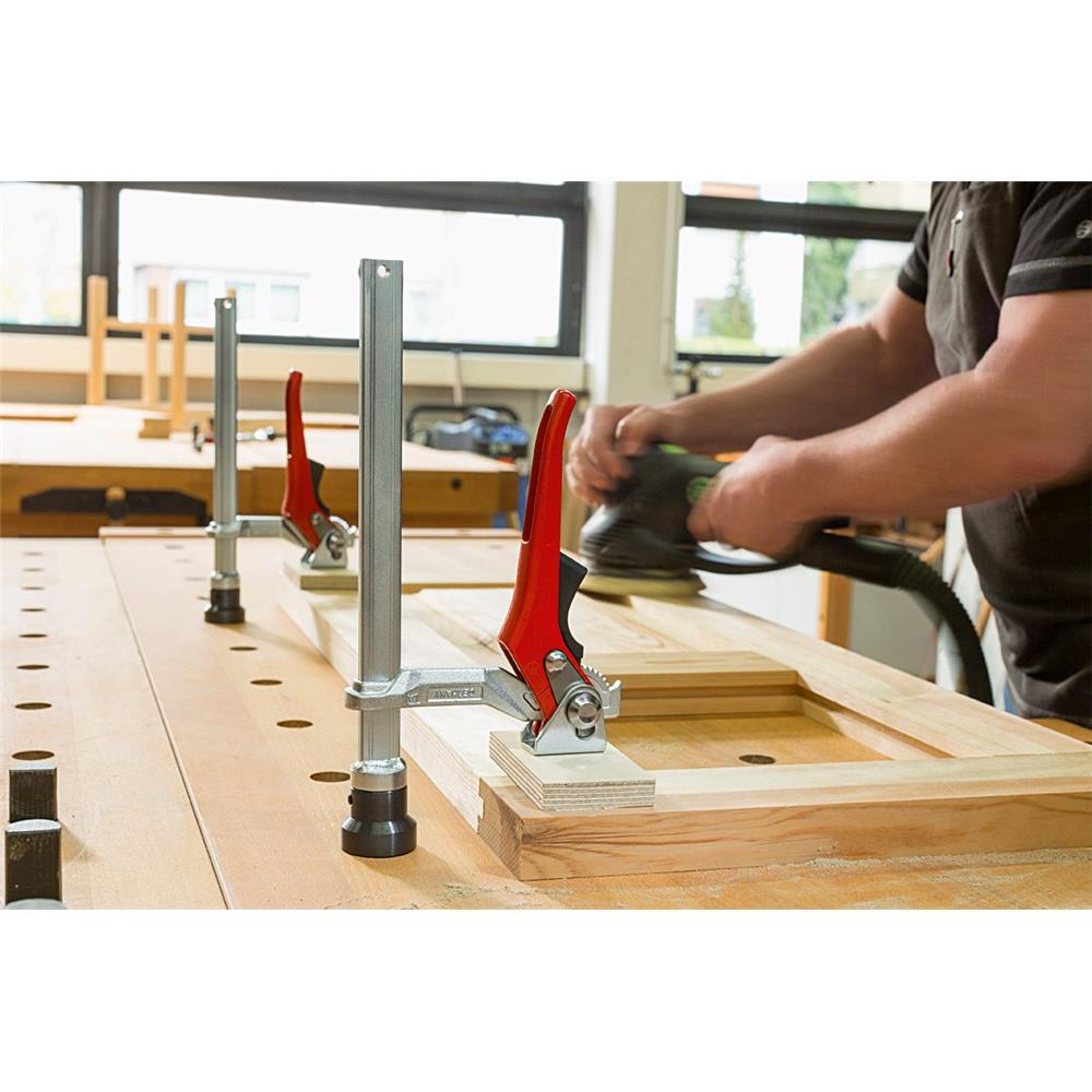 bessey hold down work bench clamp with ratchet clamp