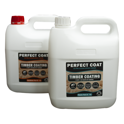 Perfect Coat 2 part Resin and Hardener - 8 litre Kit