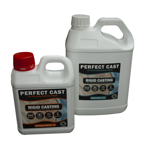 Perfect Cast 2 Part Resin and Hardener - Rigid - 3 litre Kit