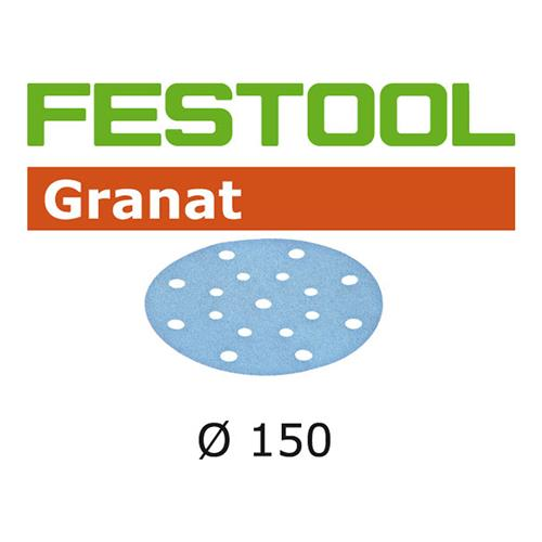 Festool Granat Abrasive Disc - 150 mm 48 Hole P180 - 10 Pack