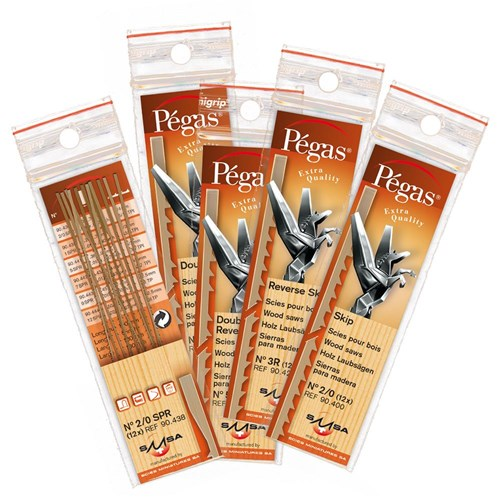 Pegas Double Skip Tooth Blades