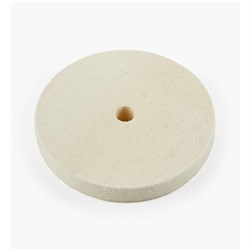 "Lee Valley 6"" Medium Flat Felt Wheel - 3/4"" Wide"