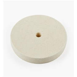 "Lee Valley 6"" Medium Flat Felt Wheel - 1"" Wide"