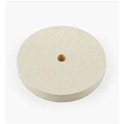 "Lee Valley 6"" Hard Flat Felt Wheel - 3/4"" Wide"