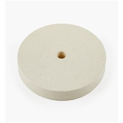 "Lee Valley 6"" Hard Flat Felt Wheel -1"" Wide"