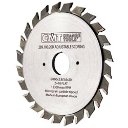 CMT Industrial Adjustable Scoring Blade (Scribe Blade) - 15300 max RPM