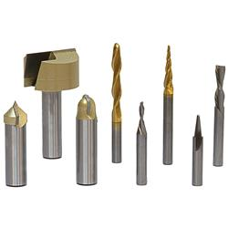 Axiom Precision 8 Piece CNC Router Bit Set