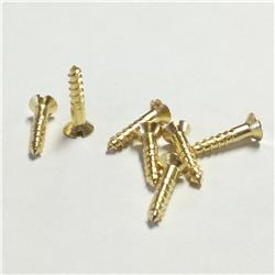 Solid Brass Countersunk Head Screws - 10mm x 2.0mm