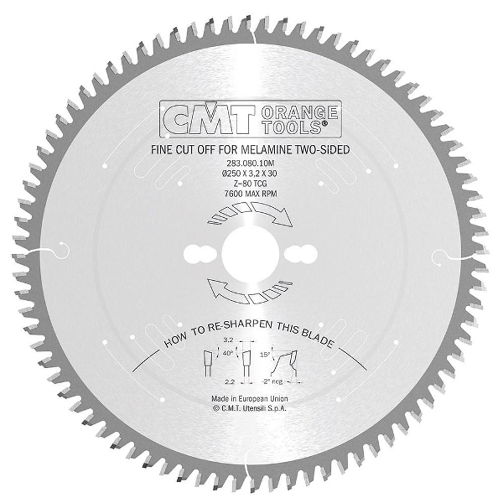 Cmt Melamine Amp Fine Cut Off Blade 250mm X 80 Teeth