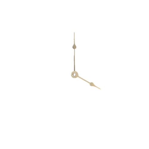 Clock Hands - Hour & Minute - Gold - 64mm