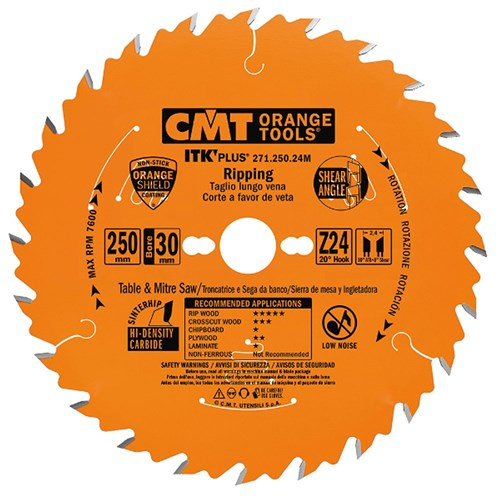 CMT ITK Plus Rip and Crosscut Blade - 235mm - 36 Tooth