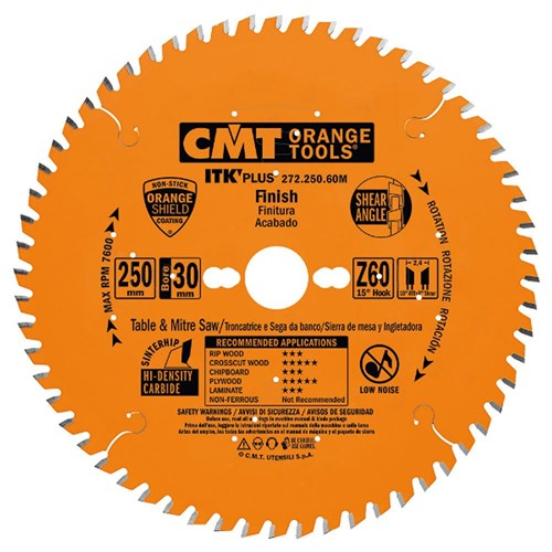 CMT ITK Plus Crosscut Blade - 250mm - 60 Tooth