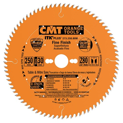 CMT ITK Plus Thin-Kerf Fine Cut-Off Blade - 300mm - 96 Tooth