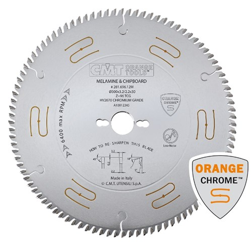 CMT Industrial Low Noise and Chrome Coated Saw Blade - 300mm - 72 Tooth