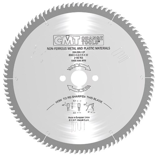 CMT Industrial Non-Ferrous Metal and Plastic Blade - 250mm - 80 Tooth