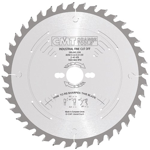 CMT Industrial Rip and Crosscut Blade - 300mm - 72 Tooth
