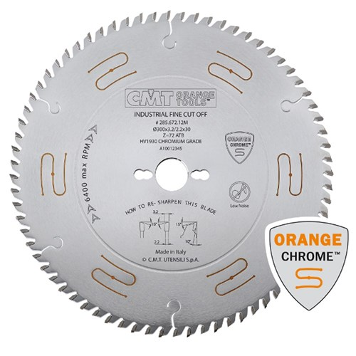 CMT Industrial Low Noise and Chrome Coated Blade - 80 Tooth 15° ATB Grind