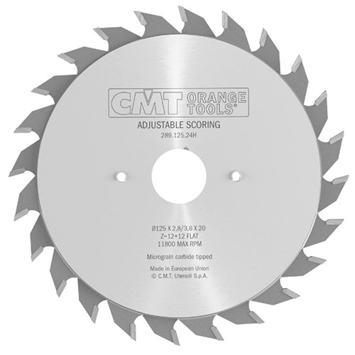CMT Industrial Adjustable Scoring Blade (Scribe Blade) - 11800 max RPM