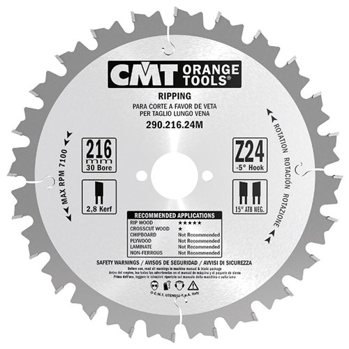 CMT Ripping Blade - 250mm - 24 Tooth
