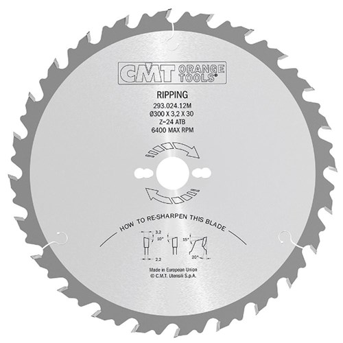 CMT Industrial Ripping Blade - 300mm - 24 Tooth