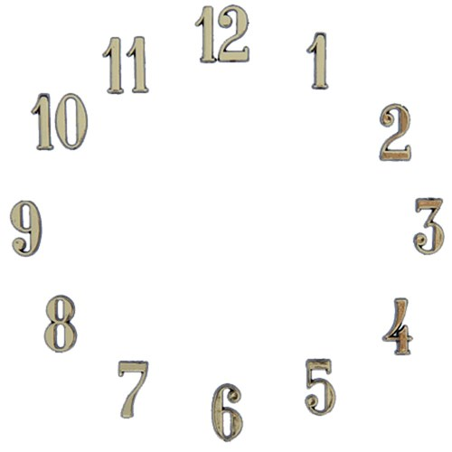 Clock Number Set - Arabic - Gold 1/2""