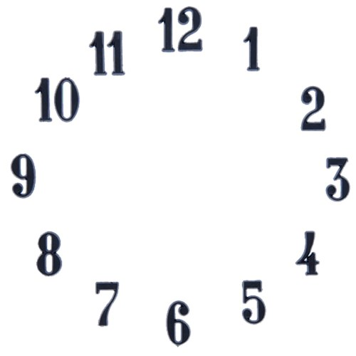 Clock Number Set - Arabic - Black 5/8