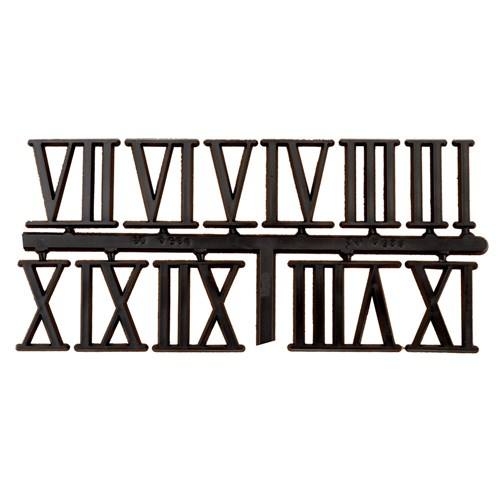 "Clock Number Set - Roman - Black 32mm (1-1/4"")"